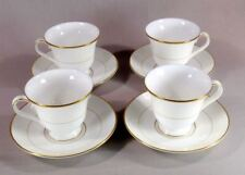 Waterford LIsmore Gold Set of Four Cup & Saucers   Free Shipping