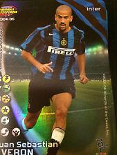 FOOTBALL CHAMPIONS CARD 2004-05 INTER - VERON - FOIL