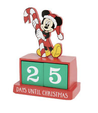 Primark DISNEY Mickey Mouse countdown to christmas Calendar wooden blocks NEW