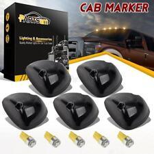 5x Smoke Cab Roof Marker Light 264141BK+Amber 168 5-5050 LED for Dodge Ram 94-98
