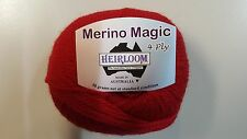 Heirloom Merino Magic 4 Ply #202 Cherry Red 100% Wool