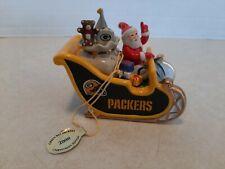 Danbury Mint 2008 NFL Green Bay Packers Christmas Sleigh Ornament S2