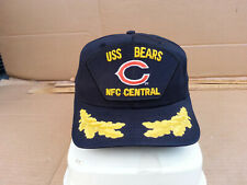 USS BEARS AFC Central Black CHICAGO BEARS Hat Cap Vintage USA