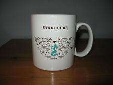 VINTAGE  STARBUCKS coffee mug MERMAID AQUA SWIRLS 18 OZ CUP