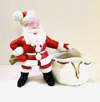 Vintage Large Ceramic SANTA w/ Planter Toy Sack Bag~12 x 12