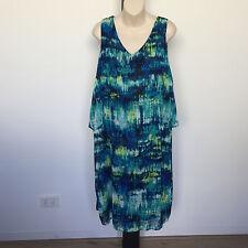 Womens Sz 20 Autograph BRAND Soft Flowing Sleeveless Overlay Dress