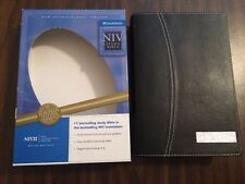 NIV 1984 Study Bible - Black European Leather - OOP 84