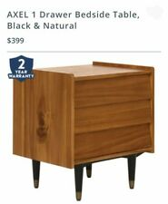 X Display Freedom Axel 1 Drawer BedSide Table  in Natural / Black $399