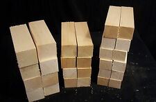 28 Pc Basswood Carving Multi Pack Blanks 1 1/2, 1 3/4, & 2 Inch Squares Lumber