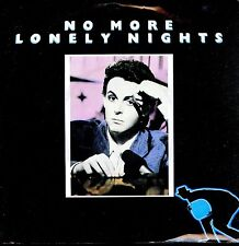 7inch PAUL McCARTNEY no more lonely nights HOLLAND 1984 EX +PS