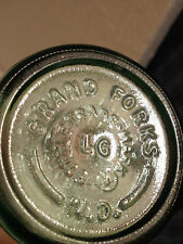1968 PINT ACL GRAPHICS GRAND FORKS, N.D. EMBOSSED BOTTOM COCA COLA 16 OZ BOTTLE