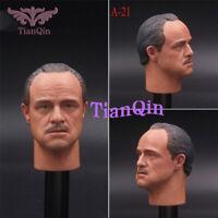 "1/6 A-21 Godfather Head Sculpt VERY HOT Custom Male Fit 12"" Phicen Figurre Body"