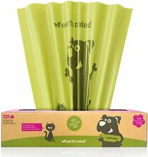 Earth Rated Bio225xl Poop Bags for Dog Waste and Cat Litter XL 225 Count
