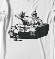 Tank Man T-shirt Tiananmen Square freedom chinese Hand airbrushed with stencils