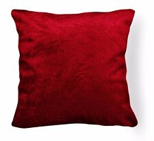 Mn118a Bright Red Crushed Velvet Style Cushion Cover/Pillow Case *Custom Size*