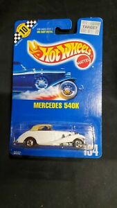 Hot Wheels 1990- Mercedes 540K -#9592- No 134 - Blue Card -BW- New In Package