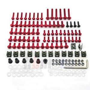 Rose Red Fairing Bolt Kit body screws For Suzuki Honda Yamaha Aprilia Kawasaki