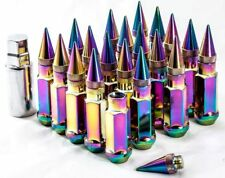 """20"""" 12X1.5 Aodhan XT92 SPIKED Lug Nuts NEO CHROME FIT Veloster GENESIS COUPE"""