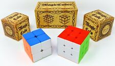 2PCS Maigc Rubic Cube Set 3x3 and 2x2 Rubic Cubs Anti-Pop Structure Toys Durable