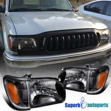 For 2001-2004 Toyota Tacoma Head Lights+Corner Signal Lamp Black