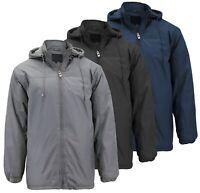 Men's Heavyweight Polar Fleece Zip Up Windbreaker Hood Insulated Jacket