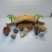 FISHER PRICE Little People DELUXE CHRISTMAS STORY Nativity SET Light Sound Read