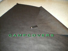 8 Ultralight Black Self Adhesive Grommet Tabs for Tyvek Ground Cloth Sheets