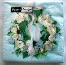 *Paper+Design*Hochzeit*Kommunion*Konfirmation*20 Servietten*Rosenkranz*