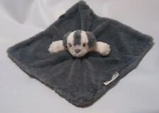 Blankets & Beyond Gray White Puppy Dog Shaggy Soft Security Blanket Lovey Nunu