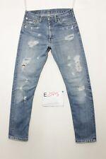 Levi's 505 jeans con rotture usato (Cod.E295) Tg.45 W31 L30 vintage boyfriend
