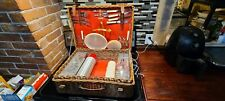 Vintage Abercrombie & Fitch English Wicker Picnic Hamper 6 place settings