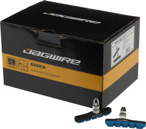 Jagwire Mountain Sport V-Brake Pads Threaded Post Box of 25 Pairs Blue Molded