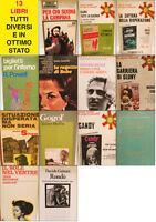 Stock 13 libri differenti romanzi in ottimo stato