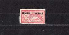 timbre France  Merson  40c rouge et bleu  surchargé Annulé   NUM: 119 CI 2  *