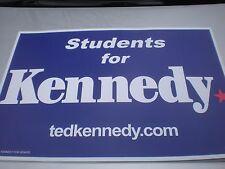 Ted Kennedy Senator Political Campaign Sign 24 X 20 MT