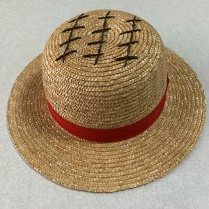 One Piece Luffy Straw Hat Universal Studios Japan Limited USJ Cap cosplay Used