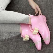 Sweet Rain Boots Women Flat Waterproof Lady Flower PVC Girls Shoes Skidproof Hot
