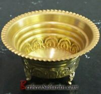 Algerian Handmade and carved brass cookie bowl - Two sizes available