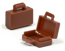 LEGO 2x BRIEFCASE ~ Brown Minifigure Minifig Business Briefcase Suitcase Bag NEW