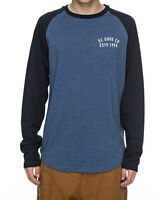 DC SHOES MENS T SHIRT.NEW CLEAR VERSION LONG SLEEVED BLUE TOP/TEE 7W 3701 BSAH