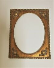 Vintage Ornate Oval, Circle wooden Frame, Picture holder, Art work decor, Large