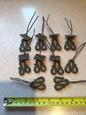 Antique Door Handles X 10 Old Iron Cupboard Draw Vintage Reclaimed Architectural