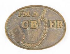 Vintage 1970's I'm A CB'er CB Radio Belt Buckle