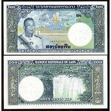 LAOS  200 Kip 1963 UNC P 13 b