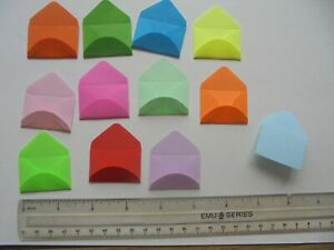 36 X BRIGHT COLOURED TINY PAPER  ENVELOPES. crafts/tooth fairy/seeds
