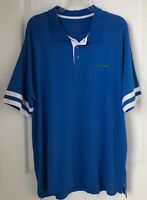 Oakley Mens Polo Shirt XL Short Sleeve Blue Short sleeves Striped