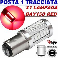 LAMPADA LED Stop Freni BAY15D 1157 P21/5W 33 SMD 5630 CAMBUS ROSSO RED No Errore