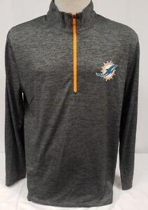Brand New Majestic Men's Miami Dolphins Half-Zip Coolbase Sweatshirt