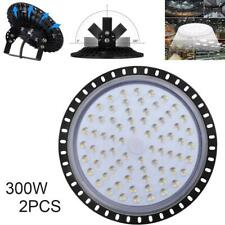 2PCS LED High Bay Lights Slim Lamp 300W Industrial Shed Workshop Warehouse Light