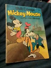 Walt Disney's MICKEY MOUSE And The OLD SEA DOG four color #411 Dell comics 1952